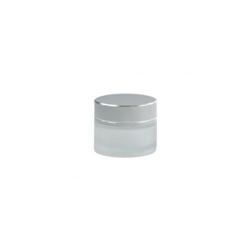 """צנצנת זכוכית קוסמטית פרוסטד 15 מ""""ל"""