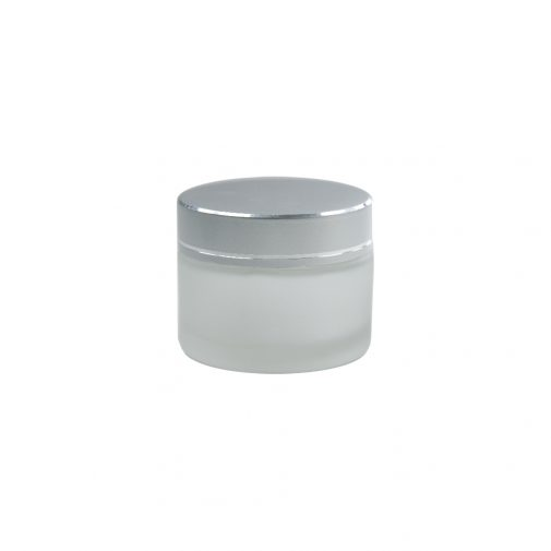 """צנצנת זכוכית קוסמטית פרוסטד 50 מ""""ל"""