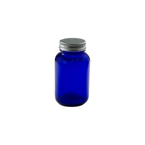 צנצנת זכוכית 120 כחולה תוספי מזון
