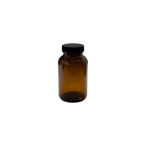 """צנצנת זכוכית 175 מ""""ל תוספי מזון חום"""
