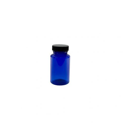 """צנצנת פט כחולה תוספי מזון 120 מ""""ל"""
