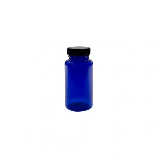 """צנצנת פט כחולה תוספי מזון 150 מ""""ל"""